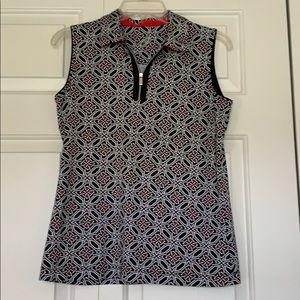 """Tail"" - Golf shirt or top w/ zipper front"